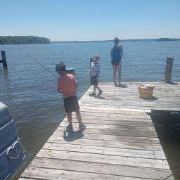 Saturday, July 18- Fishing With Dad, Levi, and Ollie